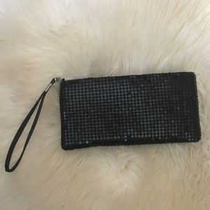 Handbags - Sparkly black sequined wristlet